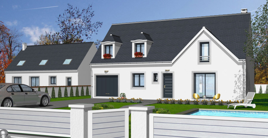 Plan maison 3d baticonfort for Exterieur maison 3d